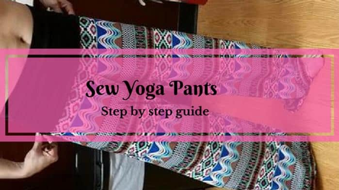 How to sew yoga pants with black band and Aztec pattern