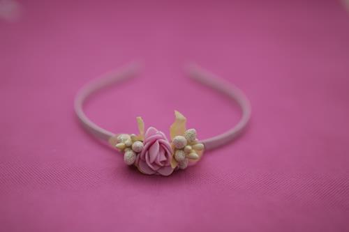 2 flower on headband