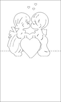 3d heart pop up card template pdf awesome pixel 07 crafts.
